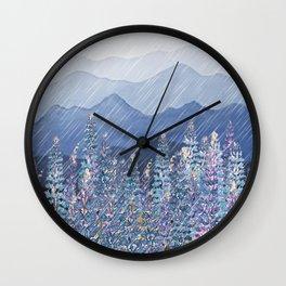 Mountain Lupine  Wall Clock