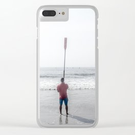 Raised Oar Clear iPhone Case