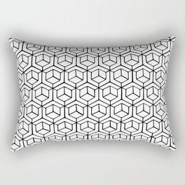 Hand Drawn Hypercube Rectangular Pillow