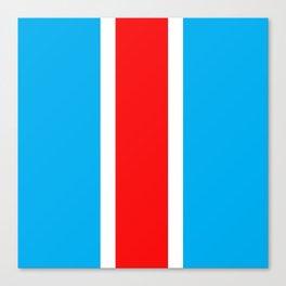TEAM COLORS 10...RED , WHITE LIGHT BLUE Canvas Print