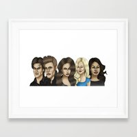 vampire diaries Framed Art Prints featuring The Vampire Diaries Caricature Artwork by GinjaNinja1801