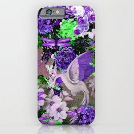 PARROTS Magnolias Hydrangeas Tropical Flower Pattern iPhone Case