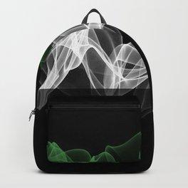 UAE Smoke Flag on Black Background, UAE flag Backpack