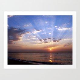 Badalona beach Art Print