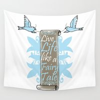 fairy tale Wall Tapestries featuring Fairy Tale by VirgoSpice