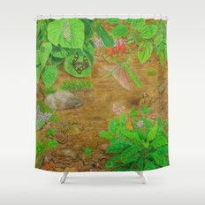 A Day of Forest (6). (close look) Shower Curtain