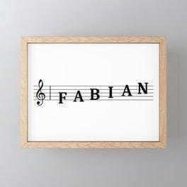 Name Fabian Framed Mini Art Print