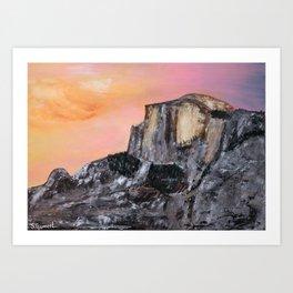 Yosemite Oil Painting Art Print