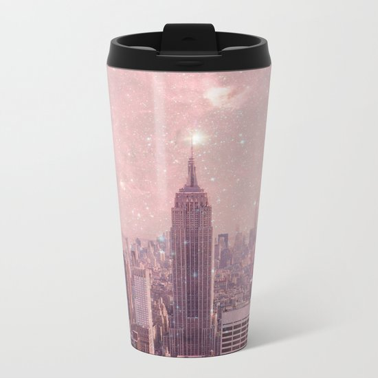 Stardust Covering New York Metal Travel Mug