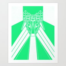 Power Wolf Lite Art Print