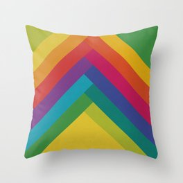 Bright Summer Lines Throw Pillow
