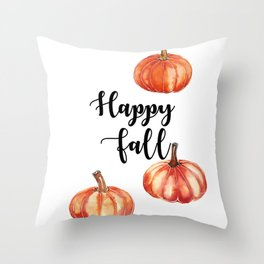Happy Fall Throw Pillow
