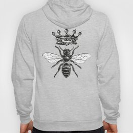 Queen Bee | Black and White Hoodie
