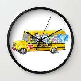 Animal SchoolBus Wall Clock