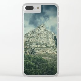 The Moody Mountain Clear iPhone Case