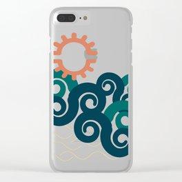 sun in a beach Clear iPhone Case