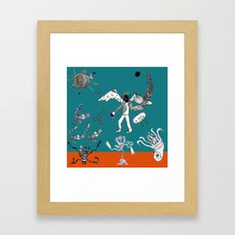Not a Demon Framed Art Print