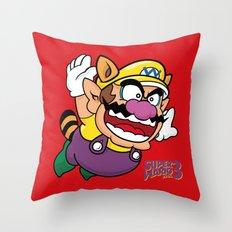 Super Wario Bros. 3 Throw Pillow