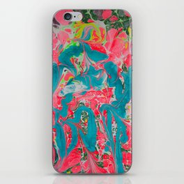 Fruit Cocktail Hand-Marbleized iPhone Skin