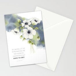 Floral Watercolor with Quote Stationery Cards