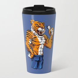 Tiger Fighter Mascot  Travel Mug
