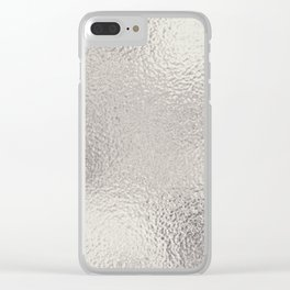 Simply Metallic in Silver Clear iPhone Case