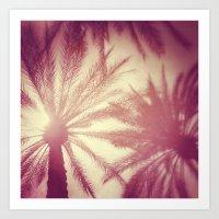 Bright Palms Art Print