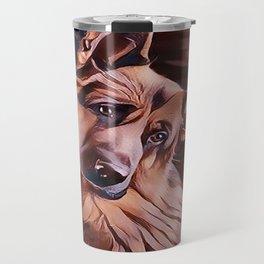 Long Haired German Shepherd Travel Mug