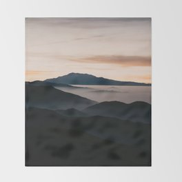 CLOUDY MOUNTAINS Throw Blanket