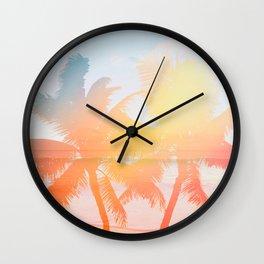 Tropicana seas - sundown Wall Clock