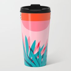 Whoa - palm sunrise southwest california palm beach sun city los angeles retro palm springs resort  Metal Travel Mug