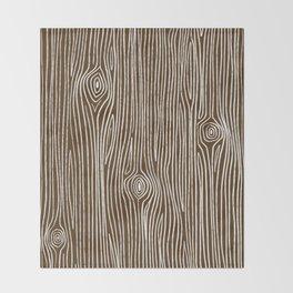 Tree Knots || Coniferous Brown Throw Blanket
