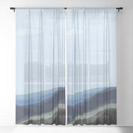 Raining in South Dakota Sheer Curtain