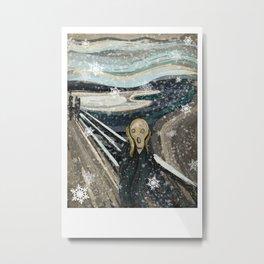 The Christmas scream Metal Print