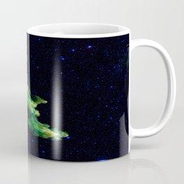 Galaxy: Green Witch's Head Nebula Coffee Mug