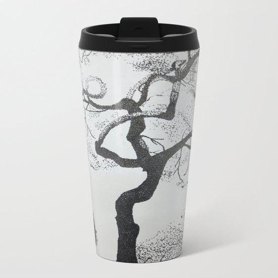 Pen and Ink Tree Metal Travel Mug