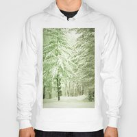 narnia Hoodies featuring Winter Pine Trees by Olivia Joy StClaire