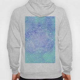 Blue Mandala Pattern Zen Painting Hoody