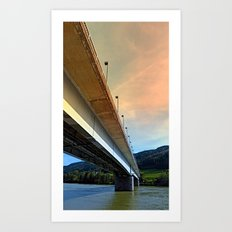 Danube river bridge | architectural photography Art Print