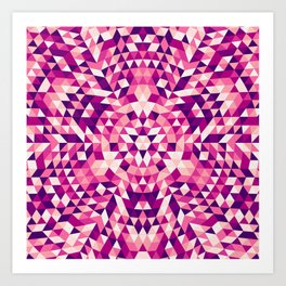 Triangle mandala 1 Art Print
