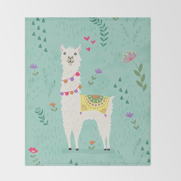 Festive Llama Throw Blanket By Latheandquill Society40 Beauteous Llama Throw Blanket