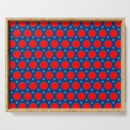 Mod Dots Red Serving Tray