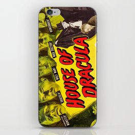 House of Dracula, vintage horror movie poster iPhone Skin