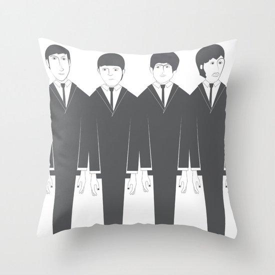 The Fab Four Throw Pillow