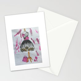 Boutique dress art Stationery Cards