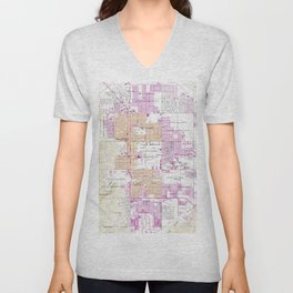 Vintage Map of Palm Springs California (1957) Unisex V-Neck
