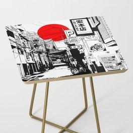 Tokyo street sunrise Side Table