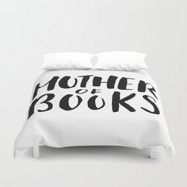 Mother of Books (White) Duvet Cover
