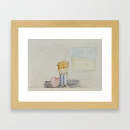 Worried Heart Framed Art Print