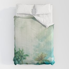 Palmtrees and Clouds Comforters